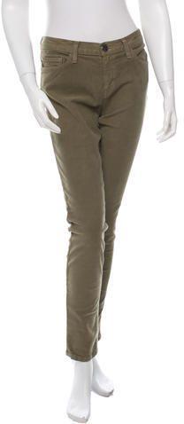 Current/Elliott Low-Rise Skinny Pants w/ Tags Women Pants, Skinny Pants, Olive Green, Khaki Pants, Zip, Tags, Stylish, Fashion, Trousers Women