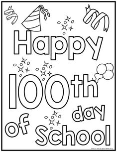 Day of School Activities 100th Day Of School Crafts, 100 Day Of School Project, 100 Days Of School, Too Cool For School, School Fun, Color Worksheets For Preschool, Preschool Activities, 100s Day, 100 Day Celebration