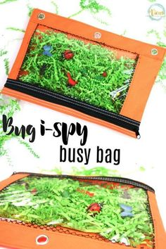 Bug I-Spy busy bag, perfect for mess-free sensory play with kids. Bug I-Spy busy bag, perfect for mess-free sensory play with kids. Bug Activities, Quiet Time Activities, Spring Activities, Infant Activities, Preschool Activities, Indoor Activities, Family Activities, Insect Crafts, Bug Crafts