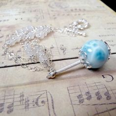Larimar, Rainbow Moonstone, Sterling Silver Necklace, $75 from assiadesigns on etsy - beautiful!!!