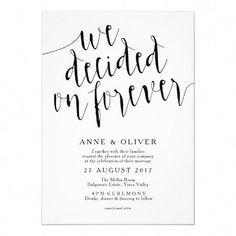 Printable Elopement Reception Invitation Reception Only