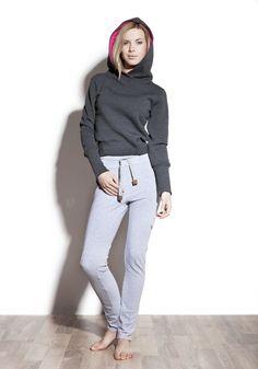 Felpe & Magliette - Lemon hoodie • graphite - un prodotto unico di bozzolo su DaWanda
