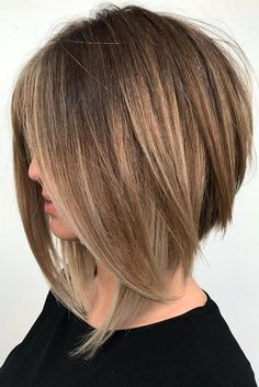 Popular angled bob hairstyles for women you need to wear these days . - Popular angled bob hairstyles for women you need to wear nowadays nail art - Short Hair Cuts, Short Hair Styles, Cuts For Thick Hair, Hair Styles For Thick Hair Medium, Plait Styles, Medium Hair Cuts Bob, Long Bob Haircuts With Layers, Hair Short Bobs, Hair Cuts Straight