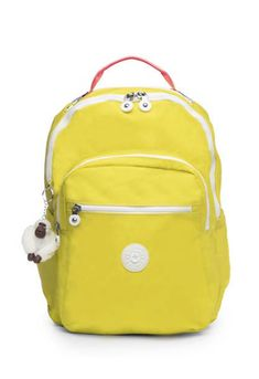 Our best-selling backpack – now in a bright color with stylish rainbow accents – is equipped with everything you need to handle life in funky fresh style. Kipling Backpack, Laptop Backpack, Yellow Backpack, Back To School Shopping, Laptop Sleeves, Seoul, Backpacks, Zip, Stylish