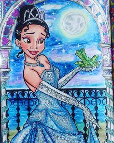 Beautiful and sparkling Princess Tiana and Prince Naveen as a frog Tiana And Naveen, Disney Princess Tiana, Prince Naveen, Disney Princesses, Disney Movie Characters, Disney Pixar, Disney Stars, Disney Love, Natural Hair Art