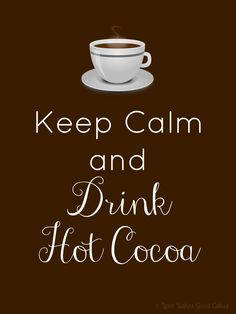 Love Bakes Good Cakes: Drink Coffee/Hot Cocoa printable (8x10)