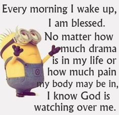 So the minions believe in God. Bible Quotes, Bible Verses, Me Quotes, Funny Quotes, Scriptures, Jokes Quotes, Blessed Quotes, Funny Humor, The Words