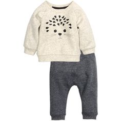 Sweatshirt and Pants $17.99 (24 NZD) ❤ liked on Polyvore featuring baby clothes