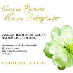 Wedding Invitation - Partecipazioni di Nozze By Il Laboratorio di Carta - Modello Watercolor, collezione 2013/14