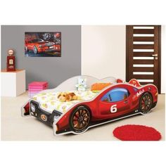 Zoomie Kids MiniMax Bed with Mattress Twin Car Bed, Toddler Car Bed, Loft Bed Frame, Bed Price, Lego Room, Bed Reviews, Modern Kids, Bed Sizes, Kid Beds