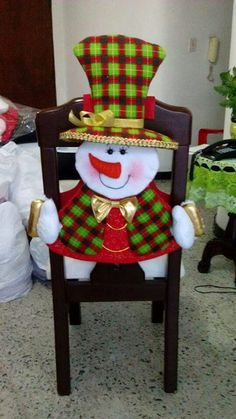 decoracion-navidena-2016-para-tus-sillas-del-comedor-3 | Curso de organizacion de hogar aprenda a ser organizado en poco tiempo