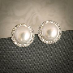 LAURA Classic Pearl and Crystal Rivoli Bridal by GlamorousBijoux, $26.00