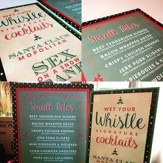 Holiday menu designs