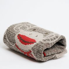 Sock Monkey Kids Throw - Eco-friendly