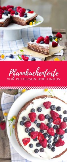 Findus Pfannkuchentorte Who knows the pancake cake from Petterson and Findus? I modified it and copied it and the recipe tastes so delicious! Kinds Of Desserts, Fall Desserts, Pancake Cake, Pumpkin Spice Cupcakes, Bear Cakes, Ice Cream Recipes, Cakes And More, Yummy Cakes, Snack Recipes