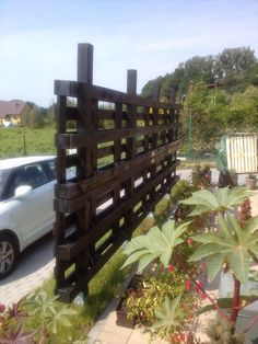 out of pallets   Beautiful Pergola out of Pallets for Garden