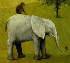 The Garden Of Earthly Delights, Hieronymus Bosch: Animals Hieronymus Bosch, Jan Van Eyck, Wassily Kandinsky, Summer Drawings, Elephants Never Forget, Garden Of Earthly Delights, Dale Chihuly, Dutch Painters, Elephant Art