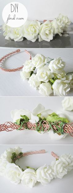 It isn't too late to get started on a #flower #crown for the summer.