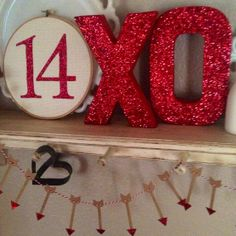 Glittered Love Valentine's Craft Kit ~ we crate ~ you create ~ diy ~ glittered letters ~ valentine's decor on Etsy, $25.00