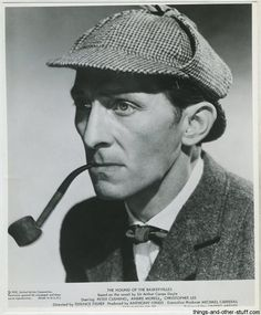 Peter Cushing as Sherlock Holmes in The Hound of the Baskervilles (1959) on Immortal Ephemera  http://745433944.r.lightningbase-cdn.com/wp-content/gallery/hammer-films/peter-cushing-03a.jpg