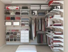 Guarda roupa aramado ao invés de marcenaria - para o marceneiro, só a caixa e as portas