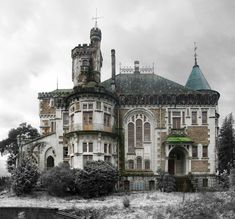 The Castle of Dona Chica, Palmeira in Braga, Portugal   Photos: Ruin'arte  http://www.steampunktendencies.com/post/141136678679/abandoned-the-castle-of-dona-chica-palmeira#sthash.pBX6r8de.dpuf