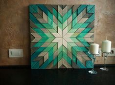 Wood wall art, Geometric art, Rustic wall decor, Reclaimed Wood Art, 3 d wall ar. Rustic Wall Decor, Rustic Walls, Wall Art Decor, Farmhouse Decor, Reclaimed Wood Wall Art, Wooden Wall Art, Wall Wood, Wood Walls, Salvaged Wood