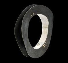 Gigi Mariani Bracelet: 'Hole' Silver, 18kt yellow gold, niello, patina