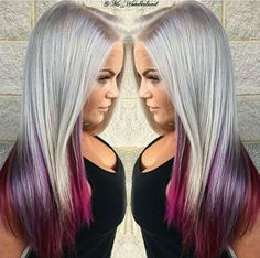 – All About Hairstyles Platinum hair. Exotic Hair Color, Pretty Hair Color, Beautiful Hair Color, Cute Hair Colors, Hair Dye Colors, Colored Hair Tips, Coloured Hair, Pelo Multicolor, Balayage Ombré