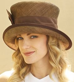 Chapeau, chapeau mariage, chapeau de paille formelle Brown, brun habillé chapeau femme, chapeau melon, Cloche marron, chapeau de l'automne, habillé chapeau brun, chapeau d'automne de l'église