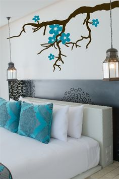 Branch with Flowers Wall Decals