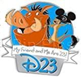 #USAshopping #10: Disney Pin 84082: D23 'Refer-A-Friend' - Pumbaa and Timon Pin from the Lion King