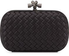 Bottega Veneta Woven Knot Clutch Bag, Black on shopstyle.com