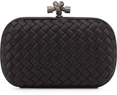 Bottega Veneta Woven Knot Clutch Bag, Black on shopstyle.com