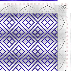 Hand Weaving Draft: Page 134, Figure 41, Donat, Franz Large Book of Textile Patterns, 8S, 8T - Handweaving.net Hand Weaving and Draft Archiv...