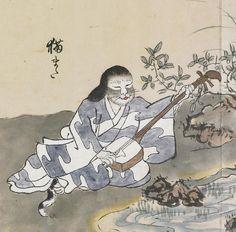 """""""猫また;Nekomata"""" from """"化物尽絵巻;Bakemono zukushi Emaki"""" by 北斎季親;Hokusai-Suechika"""