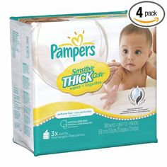 Amazon.com: Pampers Sensitive ThickCare 3X Wipes 180 Count (Pack of 4): Baby