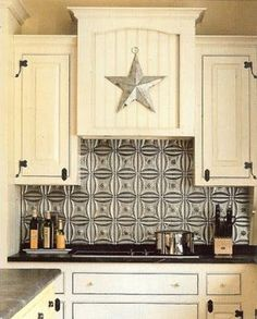 Bold Backsplash We Recently Added An Easytoclean Faux Tin Awesome Tin Backsplash For Kitchen Inspiration