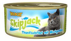 Skipjack - Thunfischfilet mit Mischgemüse. Der vitaminreiche Thunfisch-Snack von Healthfood24 #healthfood24 #wildcatkatzenfutter #katzennassfutter