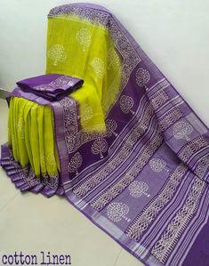 Half Saree Designs, Saree Blouse Designs, Cotton Linen, Printed Cotton, Silk Sarees With Price, Cotton Sarees Online, Embroidery Shop, Printed Sarees, Saree Styles