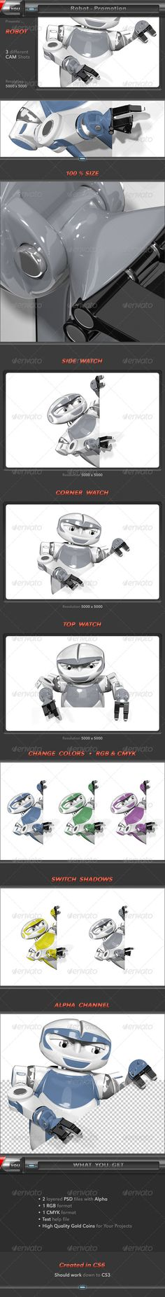 Here is my little robot for promotion in high quality. He helps you to promote your Designs / Products / Events / Websites and man