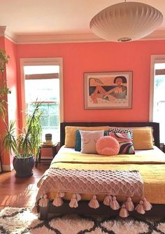 Pad Peek Living in Color with Stacey Blake of Design Addict Mom Jungalow by Justina Blakeney Dream Rooms, My New Room, Home Decor Bedroom, Bedroom Interiors, Bedroom Art, House Rooms, Cheap Home Decor, Home Decor Inspiration, Colorful Bedroom Designs