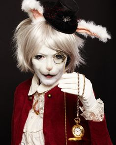 The White Rabbit by Laurentea on deviantART. Whoa.  I'm thinking yall should do the March Hare and Mad Hatter.