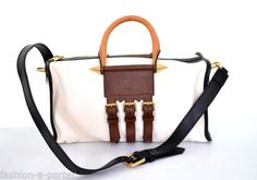 ALEXANDER-McQUEEN-SPIKED-3-BUCKLE-LEATHER-BOWLING-SHOULDER-BAG-BNWT