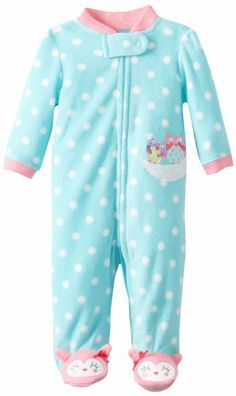 "NEW ~ /""LITTLE Mouse/"" Baby Girl Newborn Fleece Sleeper Outfit Reborn Clothes"