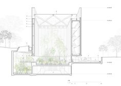 Sydney studio CHROFI has won a competition to create a new conservatory at the Australian National Botanic Gardens in Canberra with plans for a raised cube dressed in curtain-like glazing.