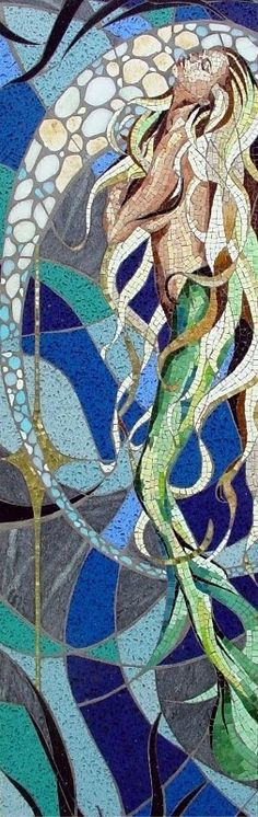 Dreaming of mermaids?  Get a free quote today on your dream mosaic https://www.aquablumosaics.com/pages/custom-mosaics