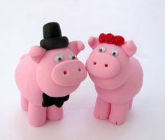 pig wedding cake topper - Google Search