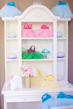 Disney princess birthday party decorations! See more party ideas at CatchMyParty.com!