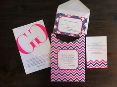 Custom Letterpress Bat Mitzvah Invitation